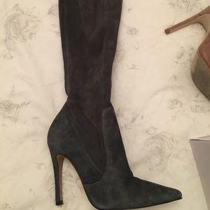 Zara Over the knee suede boot